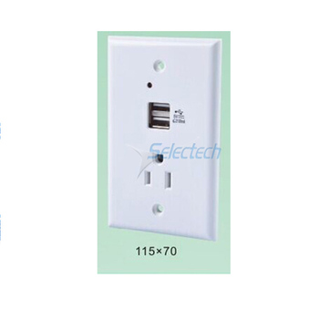 8081200+8081201+2*USB-10B USB charger socket for schneider New Design for iphone with 2 port