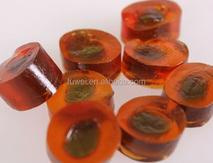 65% fruit juice centre filled soft jelly gummy candy