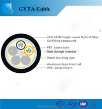 Duct stranded unitube light armored GYTA fiber optic cable