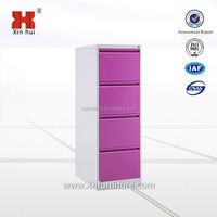 Modern office furniture 4 drawer vertical metal filing storage cabinet