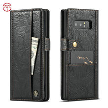 CaseMe New design Flip wallet case for Samsung Galaxy Note 8 leather cover,mobile phone accessories