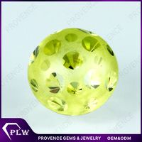 Top Quality Round Mushroom Shaped Apple Green CZ Stone For Jewelry