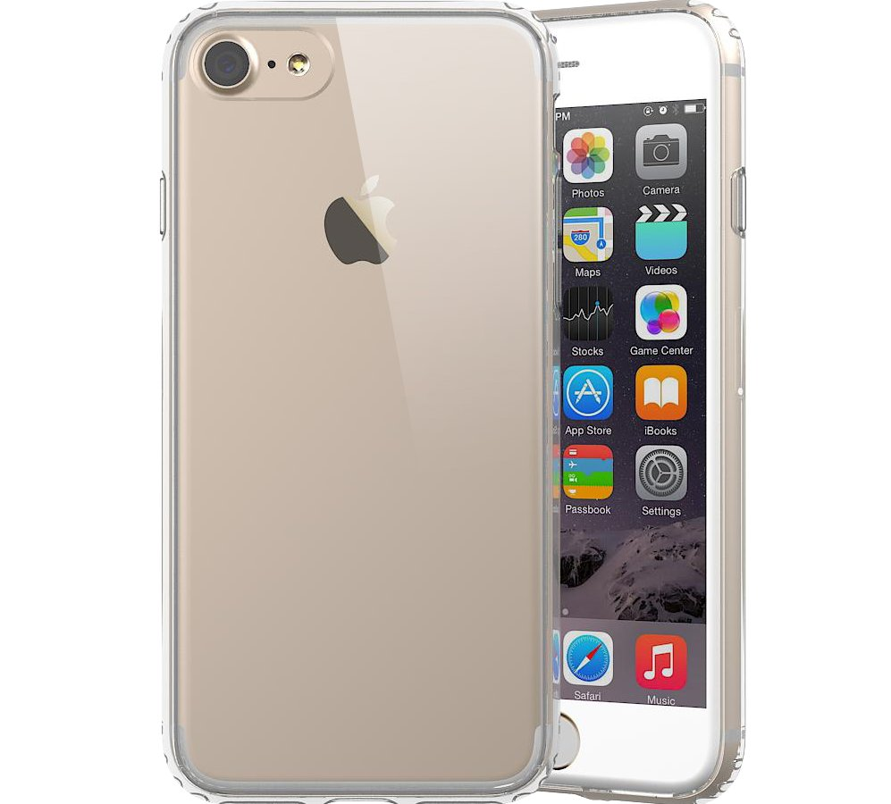 Transparent Hybrid 2 in 1 Shockproof TPU Bumper and Hard Anti-Scratch PC Backplate Crystal Clear Case Cover for iPhone 7
