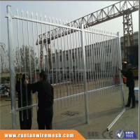 Trade Assurance hot dipped galvanized or powder coated square tube iron fence