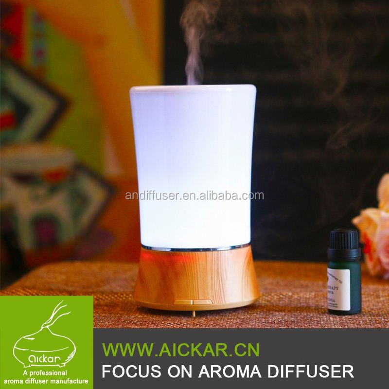 Aickar aroma diffuser Wholesale 150ml Wood Grain Ultrasonic LED Essential Oil Diffuser from Aroma Diffuser Manufacturers