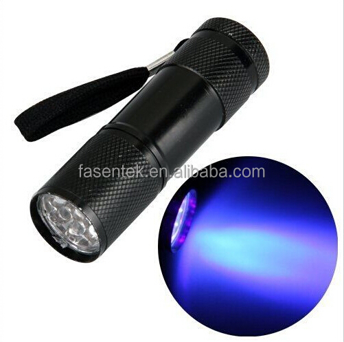 Bank Currency Notes Checker 9 LED Ultra Violet Flashlight