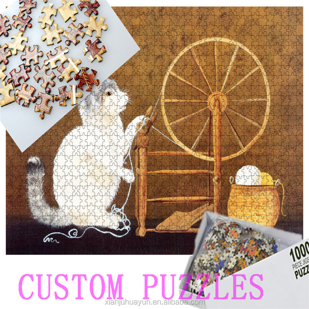 Cartoon Toy / Educational Toy Style and Paper / DIY cheap jigsaw puzzle