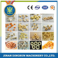 Cheese puffs making machinery /Corn ring snacks food extruder