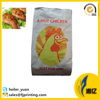 Foil lined paper chicken bags for hot food packaging