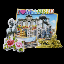Manufacturers Custom Embossed Spain Souvenir Fridge Magnet Madrid