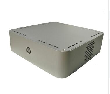 Optional silver or black color mini aluminum computer case