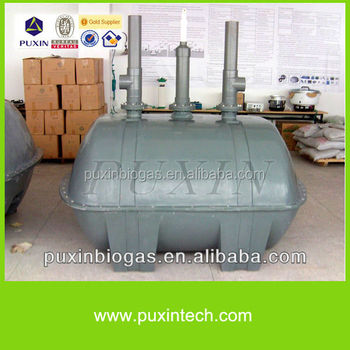 Domestic waste water treatment septic tank biogas digester