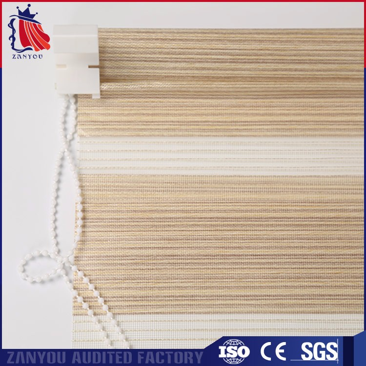 High level indoor sheer manual fabric jute paper roller blinds