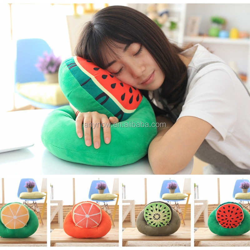Office siesta afternoon nap detachable fruit shaped pillow