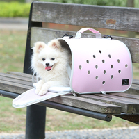 Customized portable foldable airline approved cat dog pet carrier travel tote bag