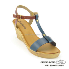 custom made top quality best price T-strap ankle strap slingback beautiful wedge sandals