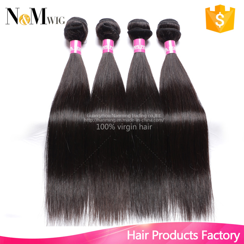 "Peruvian Straight Virgin Hair 4Pcs Lot Cheap Human Hair Natural Black 8""-30""inch Peruvian Hair Mix Lenght"