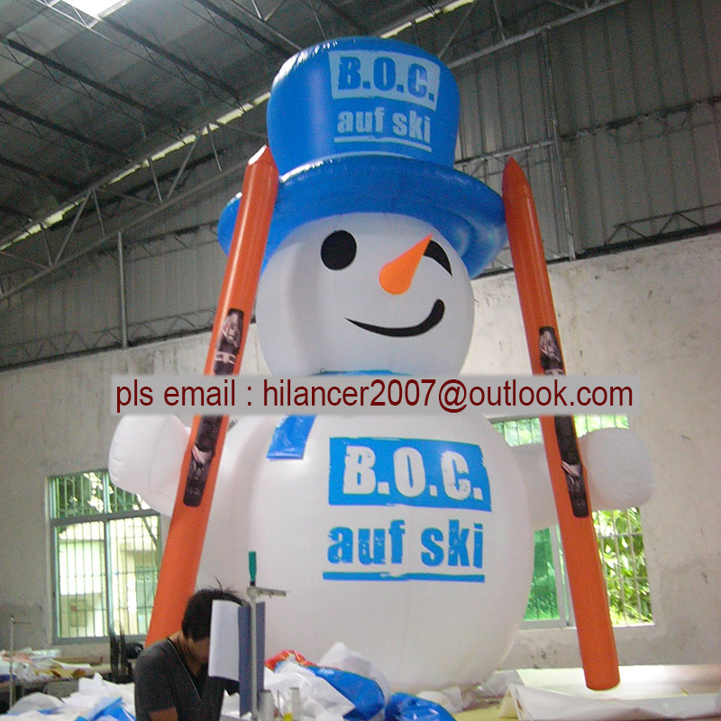 Christmas Inflatable Snowman Snowmen model Yard