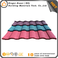 China Building Material Zinc Step roofing tile Aluminum Galvanized Colorful Stone Coated Roman Metal Roofing Tile