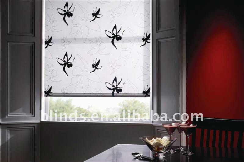 Fashionable Decorative Door Curtain Manual Roller Blinds