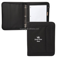 trendy A4 soft nylon portfolio with zipper