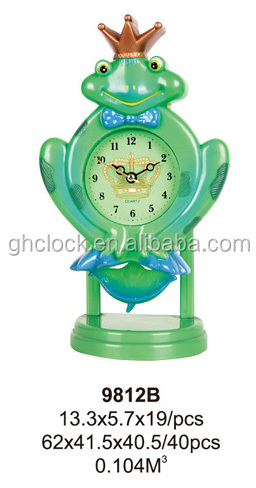 Frog Prince Animal Shaped Sway Swing Movement Clock