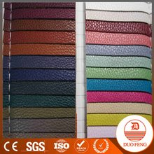 factory direct sell guangzhou lichi pattern de90 pvc leather/ pvc leather for bag