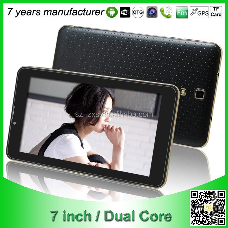 Shenzhen android tablet pc 7 inch android 4.4 computer MTK 6572 dual core 3G dual sim card smart phone tablet with logo