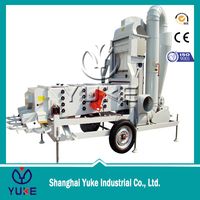 7.5 tph Mobile type wheat seed cleaning machine