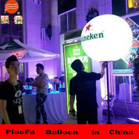 1.5m PVC LED stand balloon meet CE ROS Hcerificate.made in China