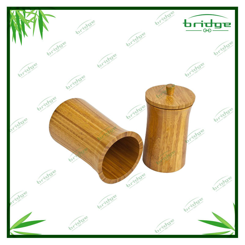 Double set bamboo tea canister