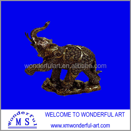 special design resin elephant figurines with leg lift