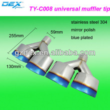 muffler tail exhaust auto part tuning decorate universal silencer stainless stleel304
