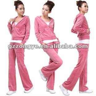 Fashion lady sweat suit for summer