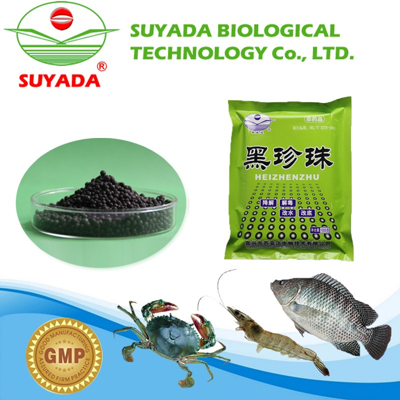 Black particles veterinary medicine drugs applied to aquatic animals