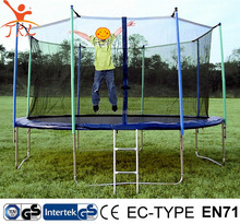 14ft competition trampoline bed with safety enclosure for sale