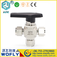 Manual adjustable gas 1/4 ss ball valve for CNG/LPG