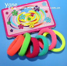 fashion multicolored neon elastic hair band for girl,elastic hair band
