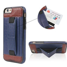 "New Design 5"" Inch portable wallet Leather Mobile Phone Case For Iphone 6"