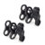 "1"" 3 Holes Ball Clamp Mount 1'' Triple Holes Camp for Video Light Flash Light Arm System Underwater Diving Camera Arm"