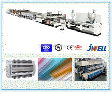 JWELL - PC11 plastic sheet polycarbonate sheet made plastic sunroom china supplier production line