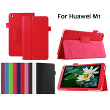 PU Leather Stand Folding cover Case For Huawei 8 INCH Mediapad M1 S8-301W U L Tablet PC