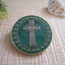 custom souvenir gift commermotative cross Mark crucifix metal coin