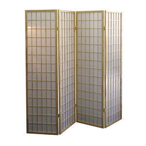 China style wooden canvas folding room divider screen