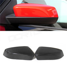 Car Styling Accessories Rearview Mirror Cover Sticker For Ford Mustang Carbon Fiber Mirror Cover
