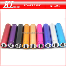 2016 Universal Cylinder Mini 2600mah Power Bank Portable Charger for Mobile Phone