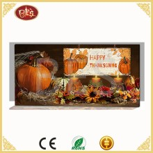 China Thanksgiving Day Led Wall Canvas Painting For Decoration