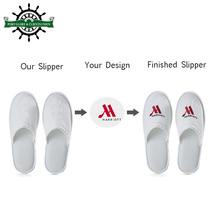 Five star high quality cotton eva spa slippers