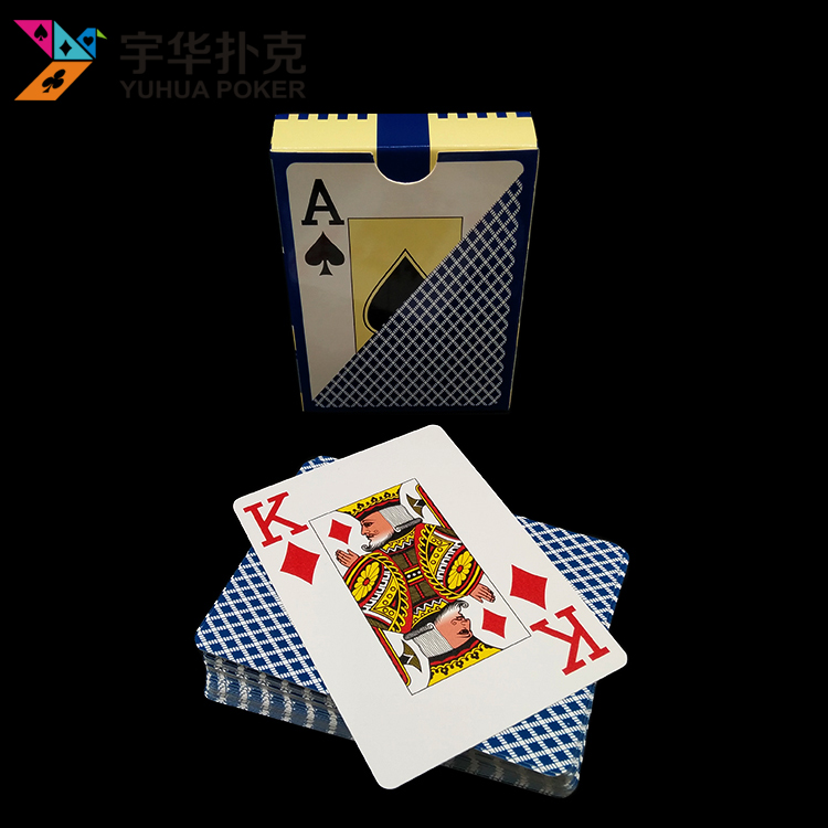 Custom 100% plastic poker playing cards with jumbo index