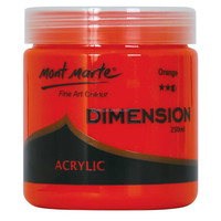 Mont Marte Dimension Acrylic Paint 250mls - Orange